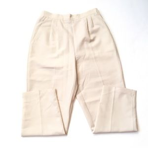 Vintage cream high waisted trousers 30-31""
